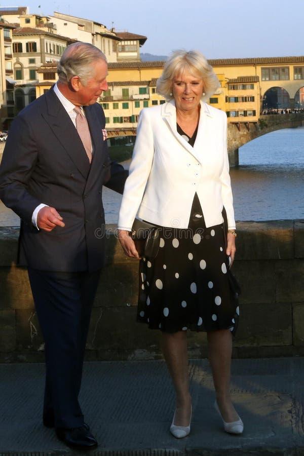 Príncipe Charles de Inglaterra y su esposa Camilla Parker Bowles, duquesa de Cornualles imágenes de archivo libres de regalías