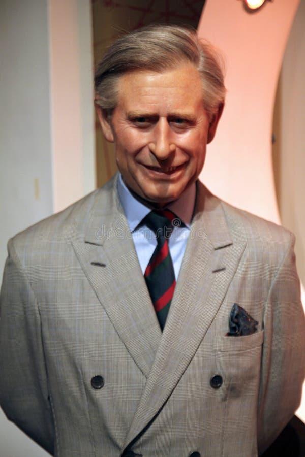 Príncipe Charles na senhora Tussaud fotos de stock royalty free