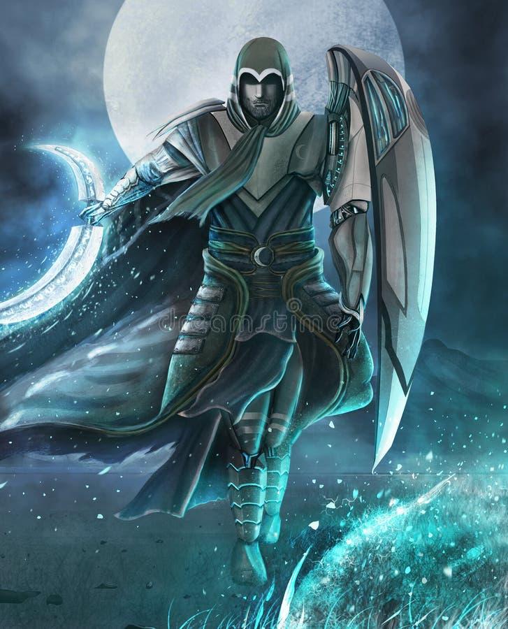 príncipe da lua ilustração royalty free