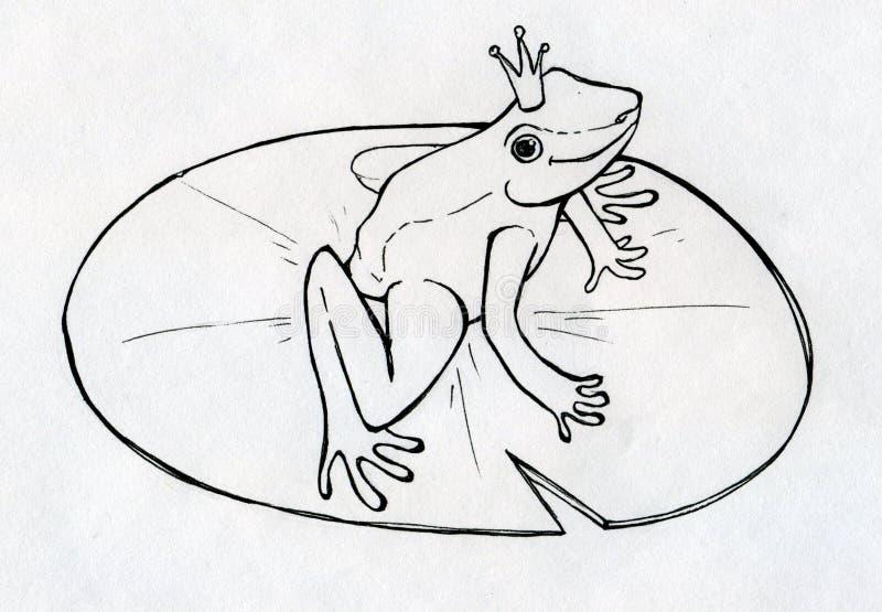 Príncipe da rã ilustração stock