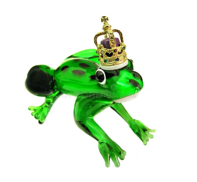 Príncipe de la rana con la corona de oro imágenes de archivo libres de regalías