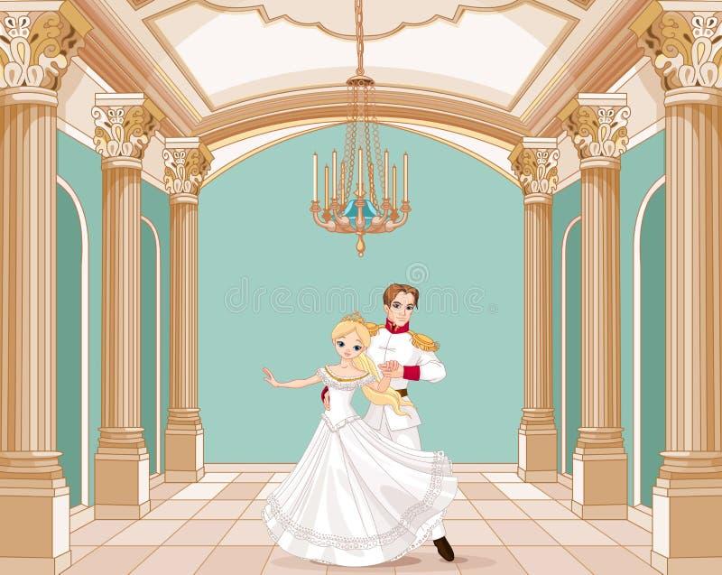 Príncipe e princesa ilustração royalty free