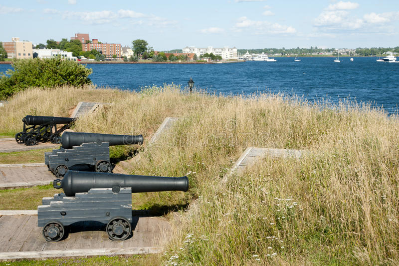 Príncipe Edward Battery - Charlottetown - Canadá fotos de archivo