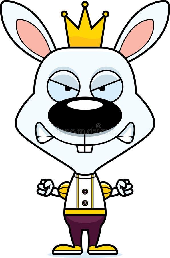 Príncipe enojado Bunny de la historieta ilustración del vector