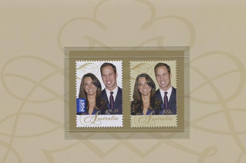 Príncipe Guillermo y Catherine Middleton foto de archivo libre de regalías
