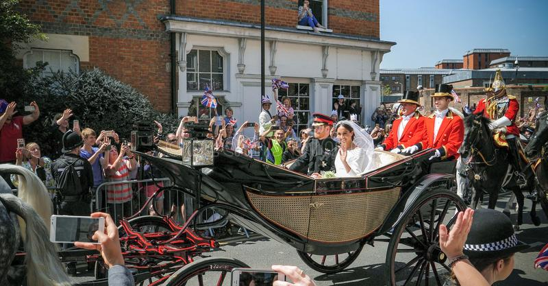 Príncipe Harry, duque de Sussex e Meghan, duquesa da licença de Sussex fotos de stock royalty free