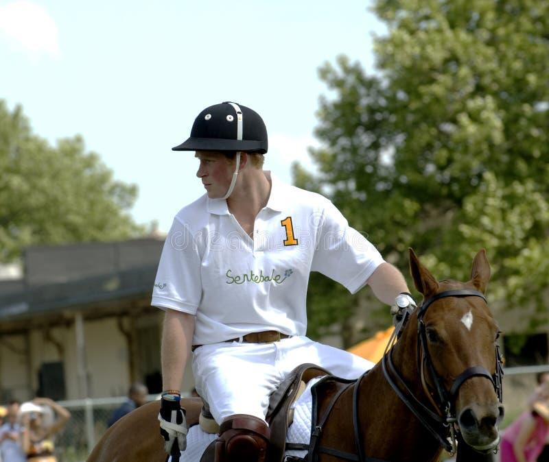 Príncipe Harry Playing Polo imagen de archivo
