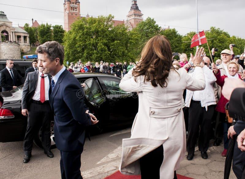 Príncipe herdeiro Frederik de Dinamarca e princesa Mary foto de stock