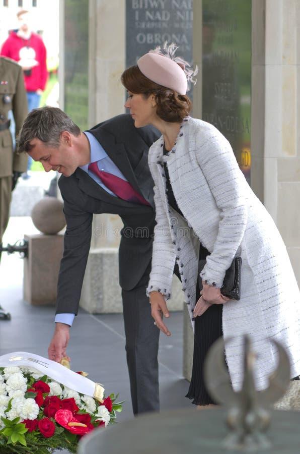 Príncipe herdeiro Frederik de Dinamarca e sua esposa, Pri imagens de stock royalty free