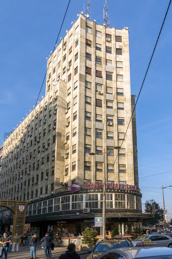 Príncipe Michael Street de la calle de Knez Mihailova en el centro de la ciudad de Belgrado, Serbia imágenes de archivo libres de regalías