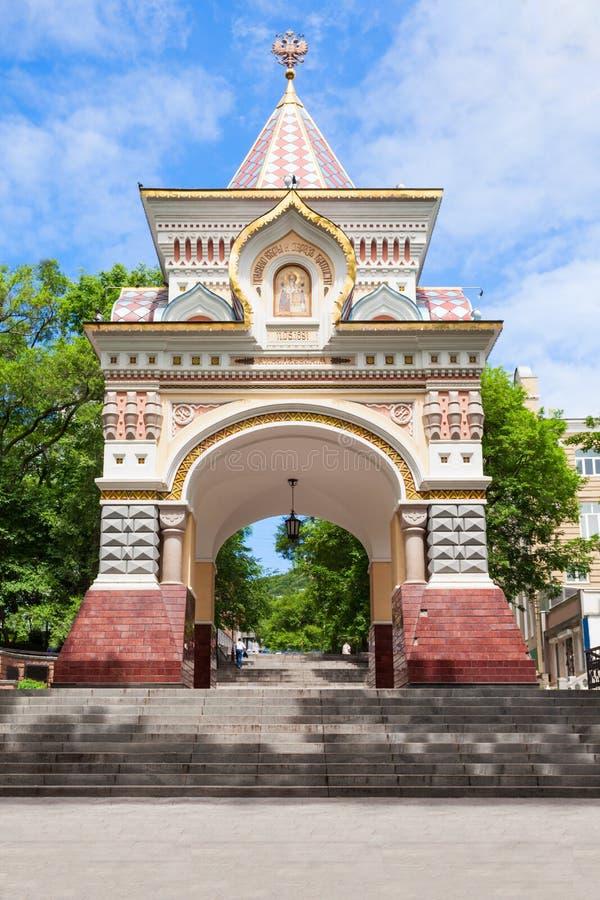 Príncipe Nicholas, Vladivostok del arco foto de archivo libre de regalías