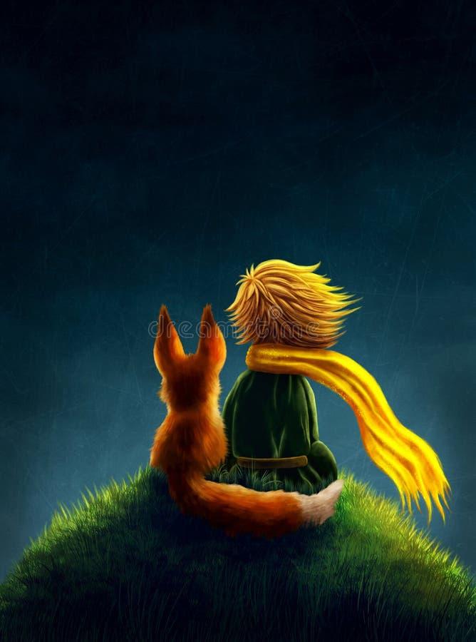 Príncipe pequeno ilustração royalty free