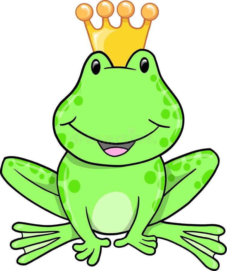 Príncipe Vector de la rana stock de ilustración