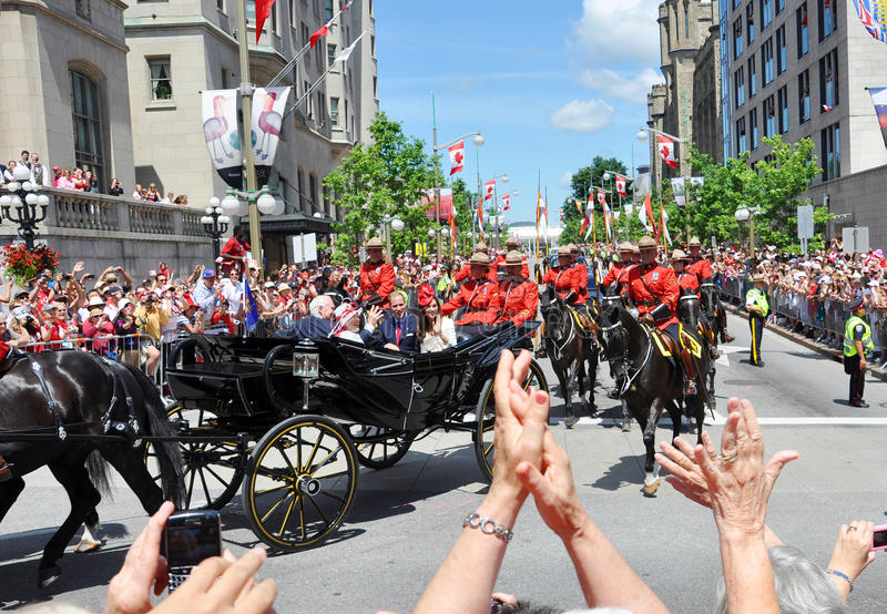 Príncipe William e Catherine em Ottawa imagem de stock