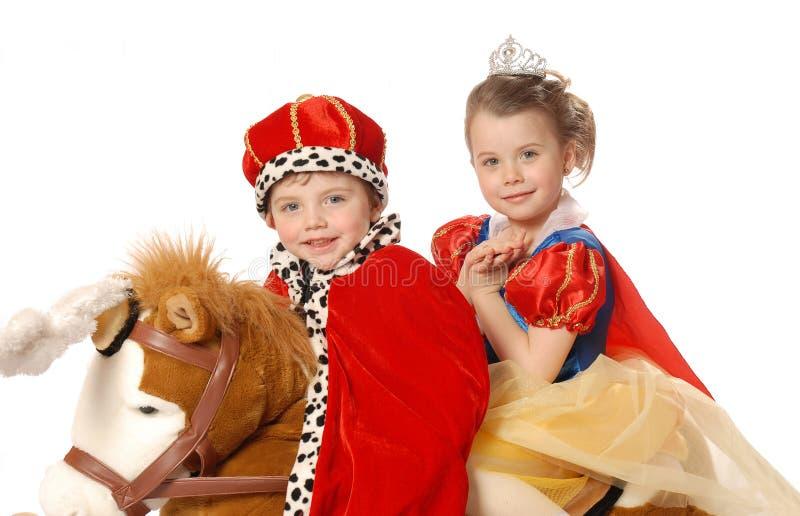 Príncipe y princesa imagen de archivo