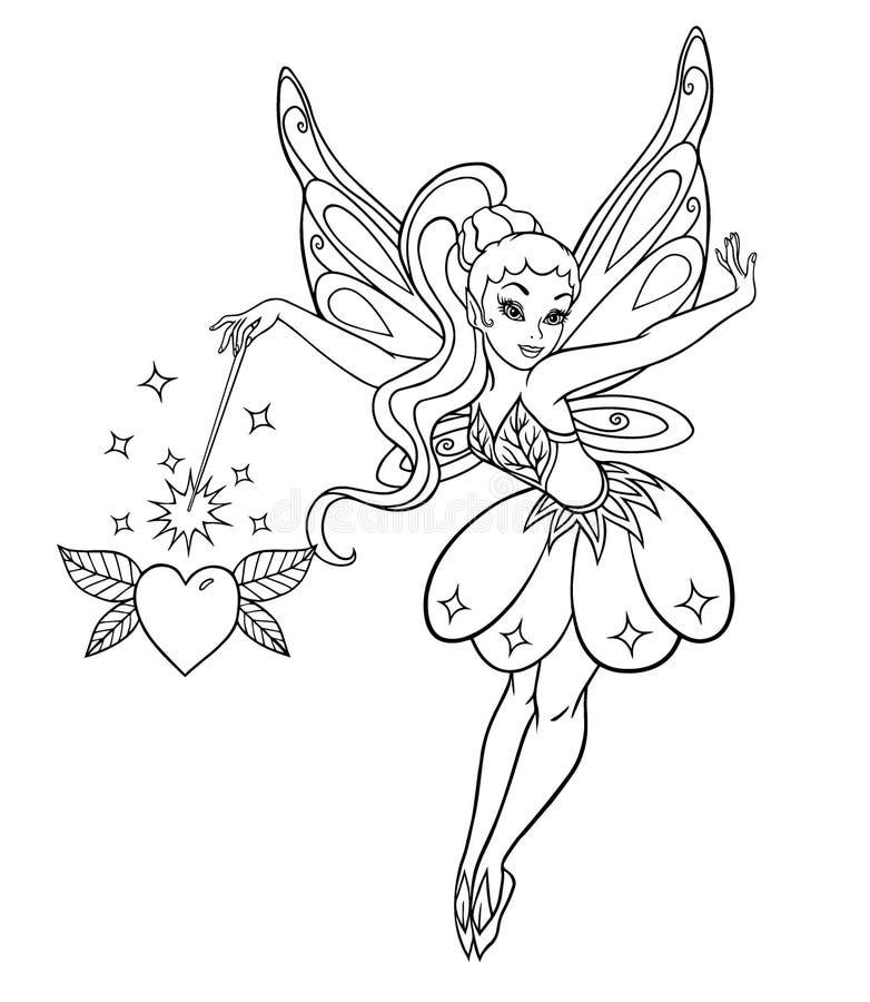 Príncipes elegantes feericamente com asas ilustração royalty free