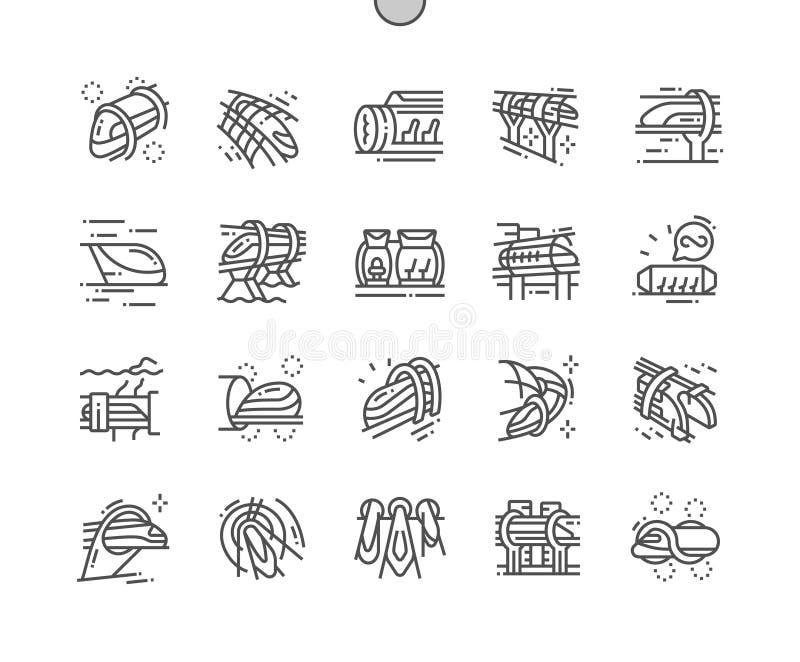 Próżnia pociąg Wykonujący ręcznie piksel Doskonalić wektor royalty ilustracja