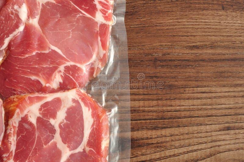Próżnia - upakowany mięso zdjęcia royalty free