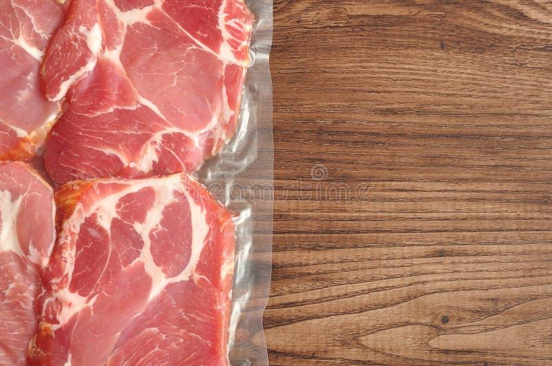 Próżnia - upakowany mięso obraz royalty free