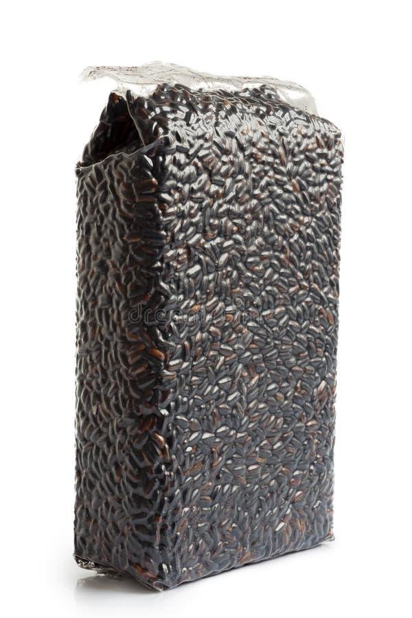 Próżnia - upakowany Nerone czarny długi zbożowy ryż zdjęcie royalty free