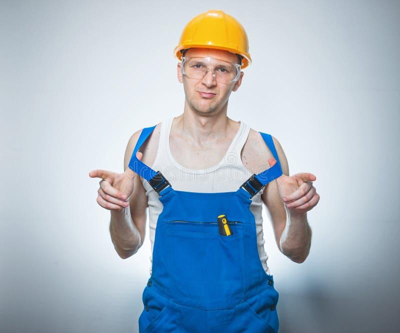 Próżniaka ręczny pracownik zdjęcie stock