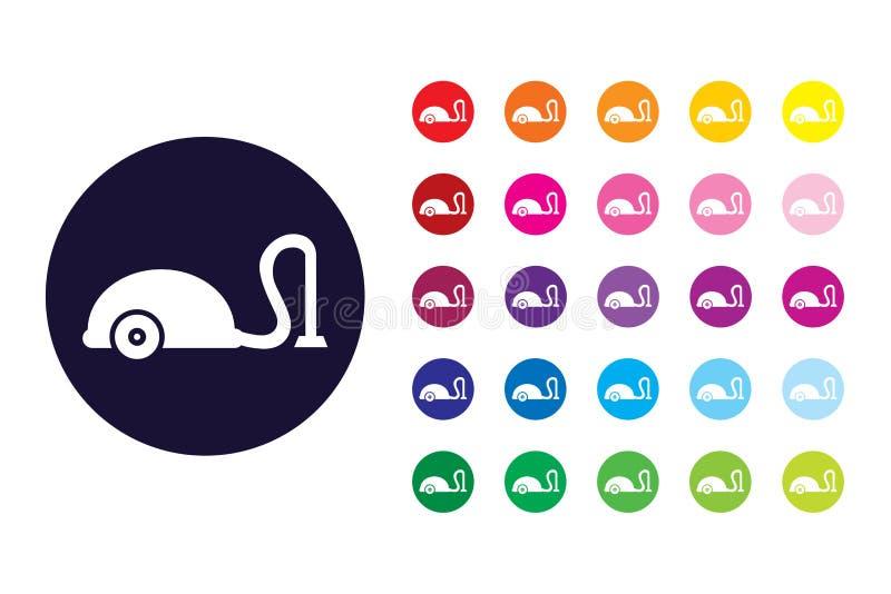 Próżniowa czysta szyldowa ikona Próżniowy czysty koloru symbol ilustracji