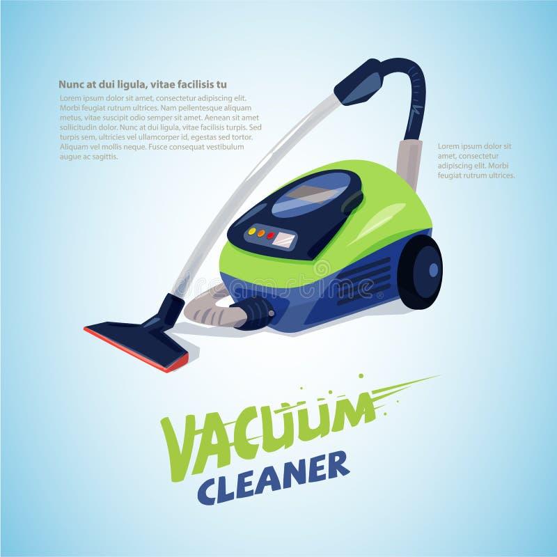 Próżniowy Cleaner z typograficznym dla chodnikowa projekta - ilustracji