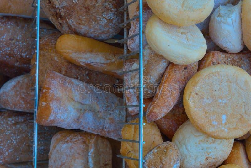 Próżnuje różnorodni typ Belgijscy chleby obraz stock