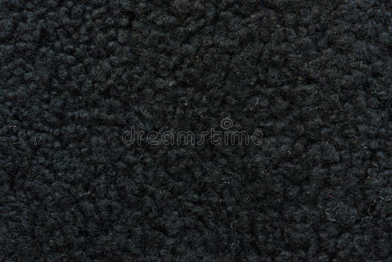 Próbka czarnej wełny rzemienny płótno dla szyć zdjęcie royalty free