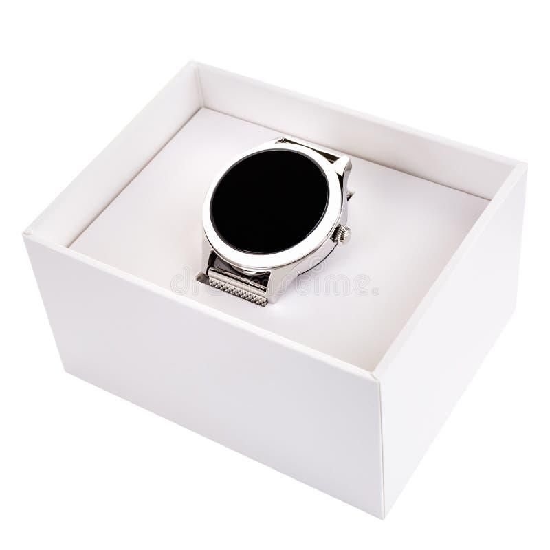 Próbka na rękę w białym pudełku obrazy stock
