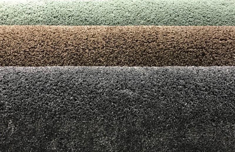 Próbki dywan w rolce fotografia stock