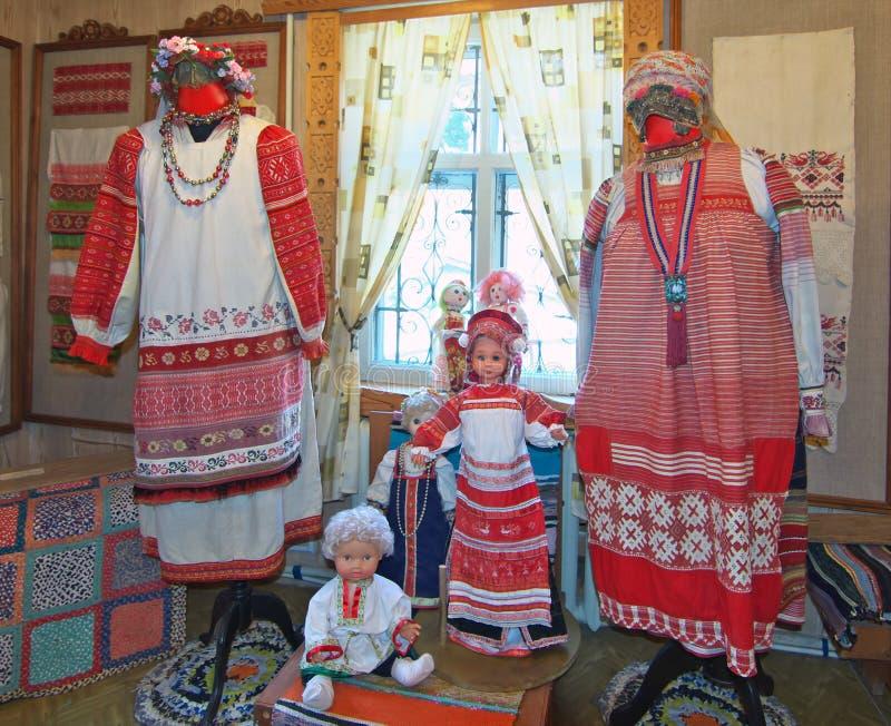 Próbki krajowy rosjanin odziewają zdjęcia stock