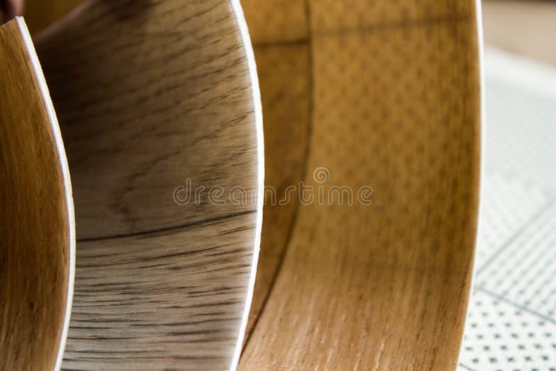 Próbki linoleum Ciąć i kłaść podłogowi nakrycia zdjęcie royalty free