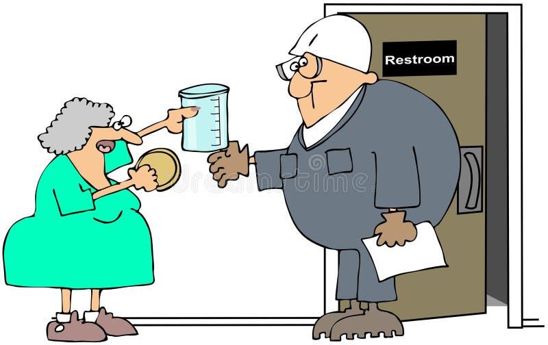 próbna uryna ilustracja wektor