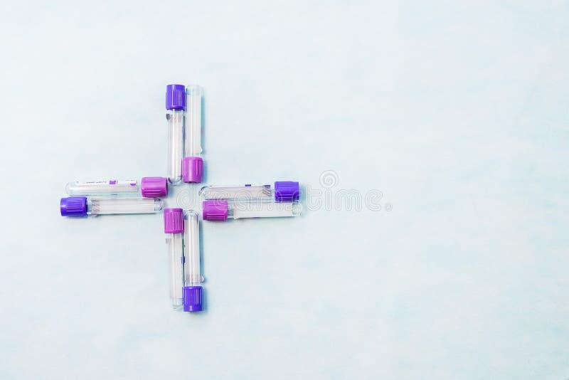 Próbne tubki dla laboranckiej diagnozy dla badań krwi, obrazy royalty free