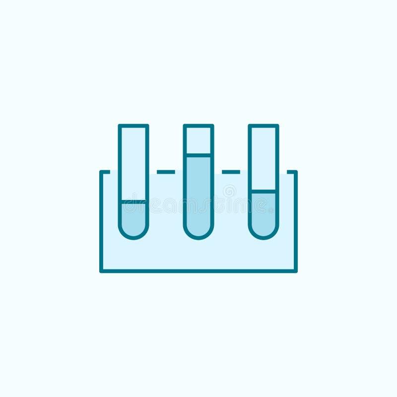 próbnej tubki 2 barwiąca kreskowa ikona Prosta barwiona element ilustracja próbnej tubki konturu symbolu projekt od Scientifics n ilustracja wektor