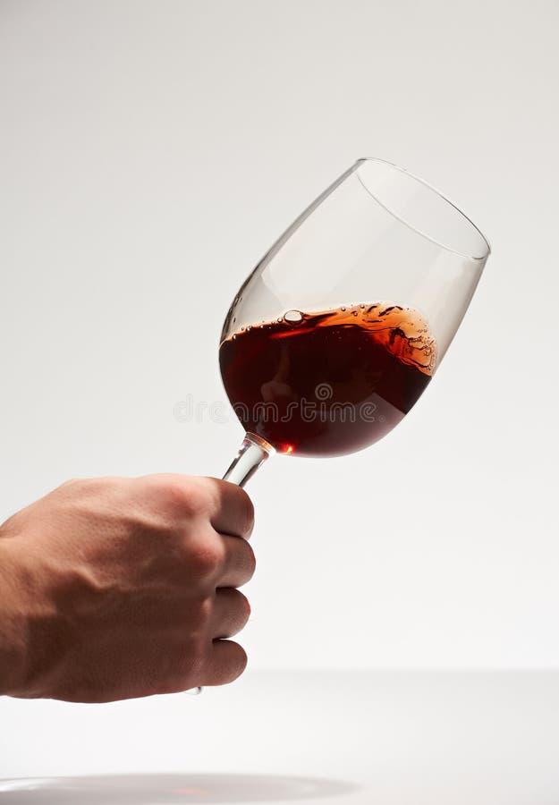 Próbny czerwone wino fotografia stock