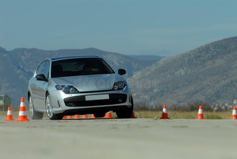 Próbny jeżdżenie samochód obrazy stock