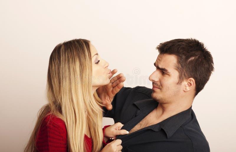 Próbować całować on fotografia royalty free