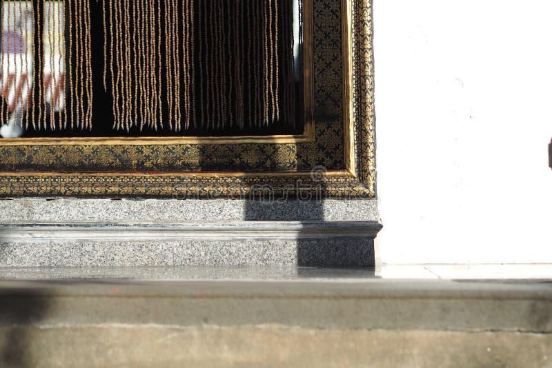 Próg Tajlandia świątynia zdjęcia stock