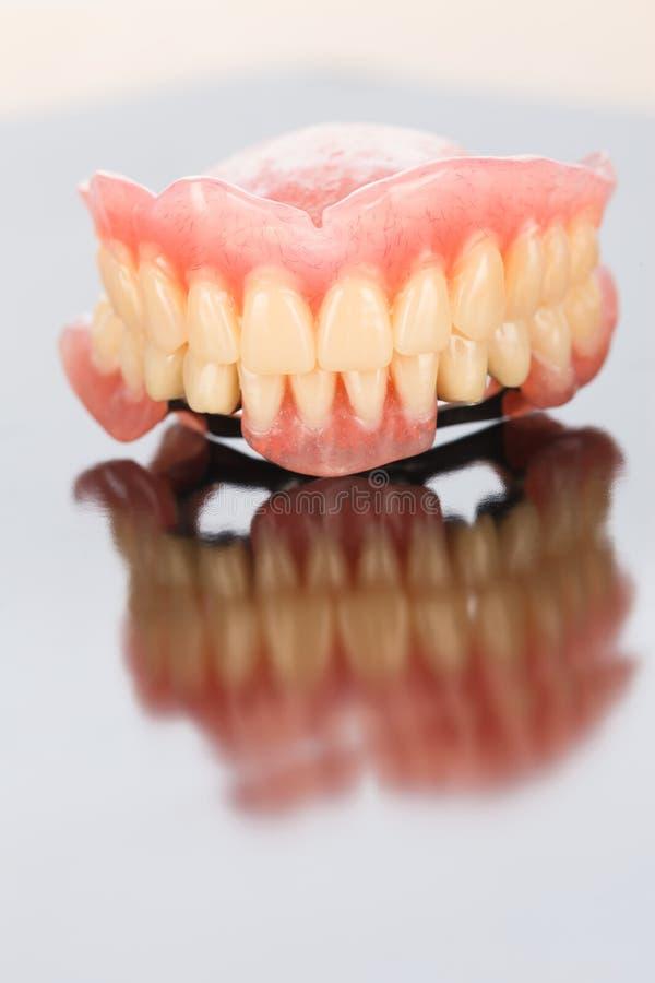 Prótese dental superior e mais baixa fotografia de stock royalty free