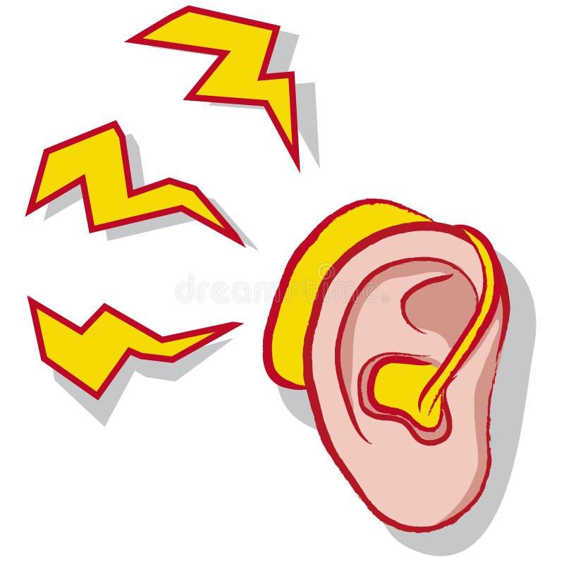 Prótesis de oído ilustración del vector