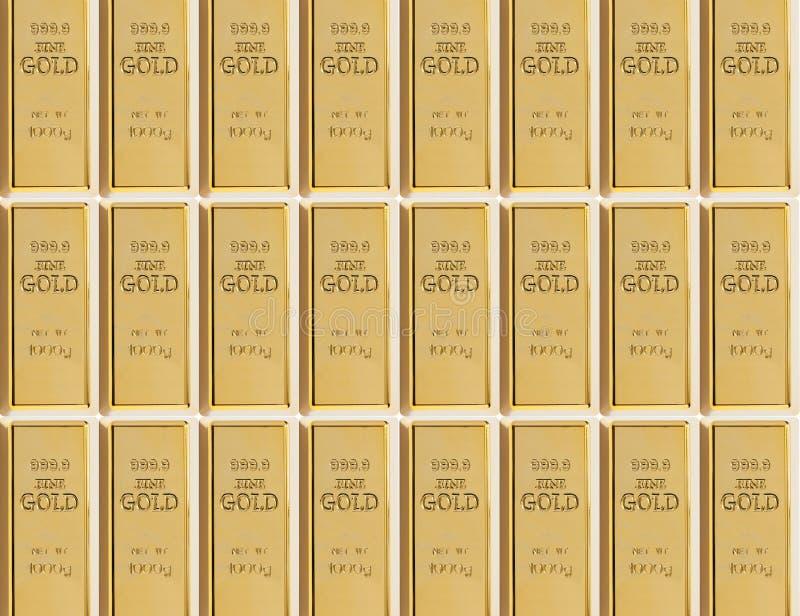 Prövkopia av 999 guld- stänger royaltyfria bilder