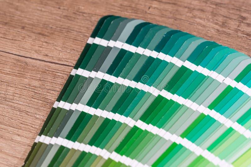 Prövkopiadiagram för grön färg royaltyfri foto