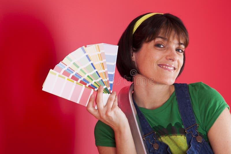 prövkopior för målarfärgrulle arkivfoton