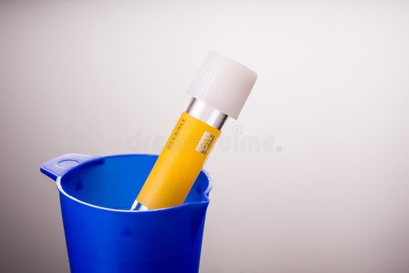 Prüfen Sie Ausrüstungen auf Urinproben lizenzfreie stockfotografie