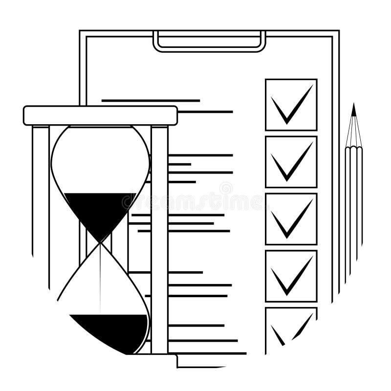 Prüfen Sie Prüfungsbildungs-Ikonenausweis auf bewegliche APP vektor abbildung