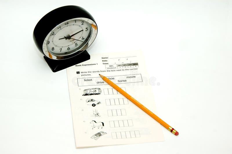Prüfung stockfoto