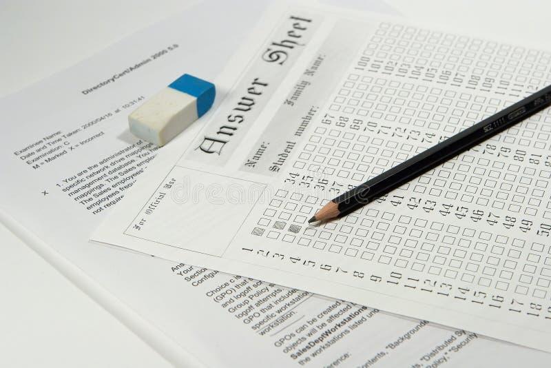 Prüfungpapier lizenzfreie stockbilder
