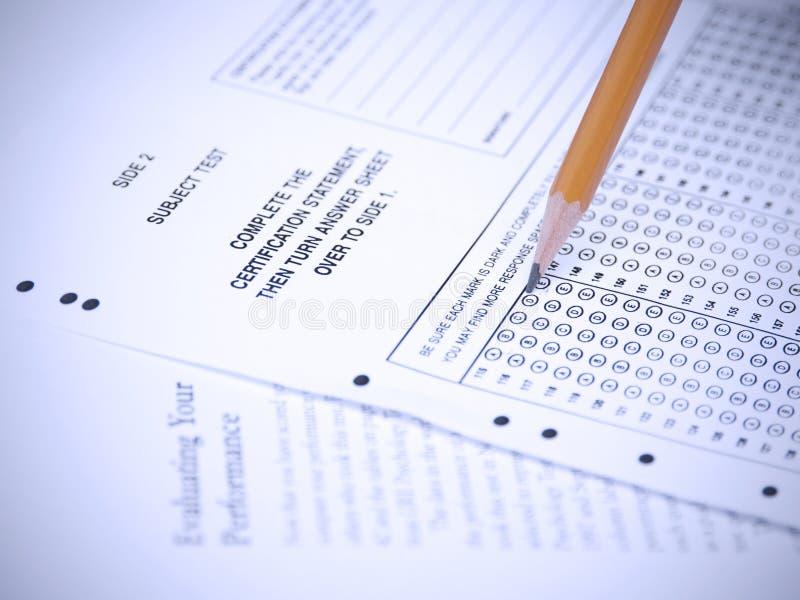 Prüfungsanwendung lizenzfreie stockfotografie